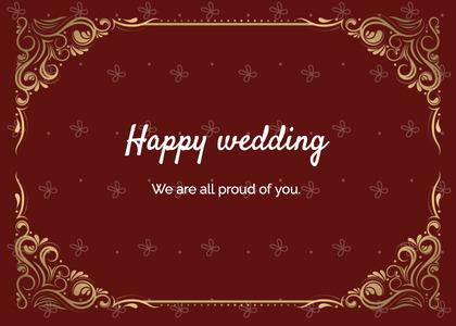 wedding card 25 floraldesign art