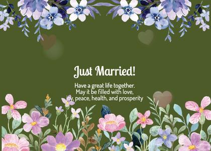 wedding card 254 plant flower