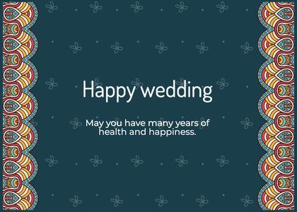 wedding card 26 text menu