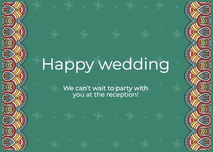 wedding card 27 text menu