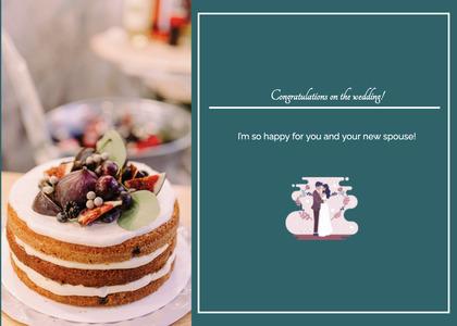 wedding card 28 cake dessert