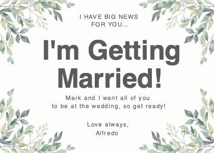 wedding card 3 plant text