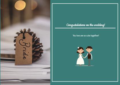 wedding card 34 text flyer