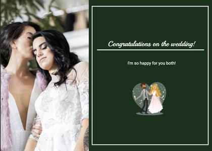 wedding card 46 person weddinggown