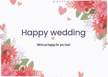 wedding card 51 floraldesign graphics