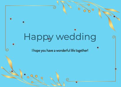 wedding card 52 text graphics