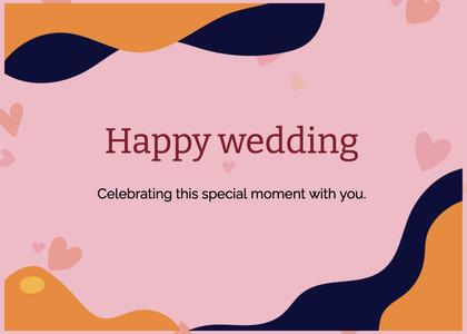 wedding card 54 text paper