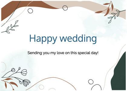 wedding card 57 text animal