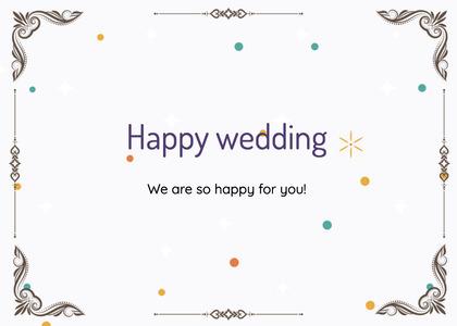 wedding card 59 text paper