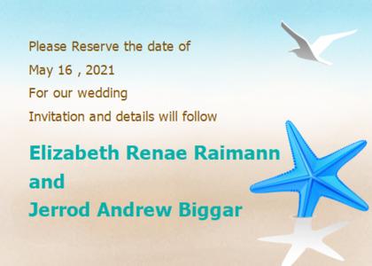 wedding card 6 bird animal