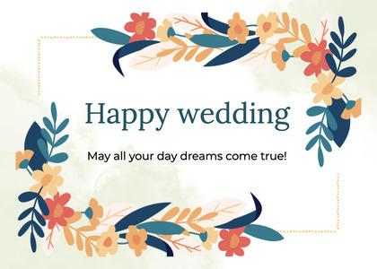 wedding card 60 floraldesign graphics