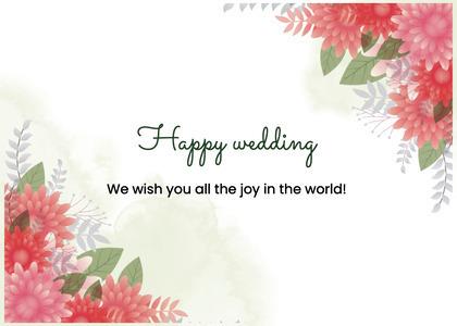 wedding card 62 floraldesign graphics