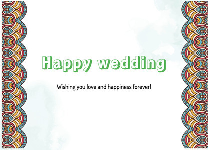 wedding card 63 face text