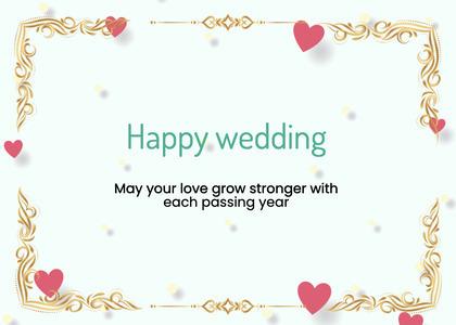 wedding card 64 envelope mail