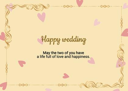 wedding card 65 text paper