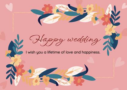 wedding card 67 floraldesign pattern