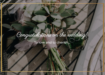 wedding card 77 plant produce