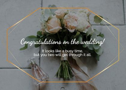 wedding card 82 plant flower