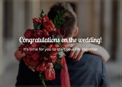 wedding card 84 plant person