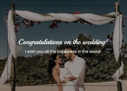 wedding card 85 clothing person