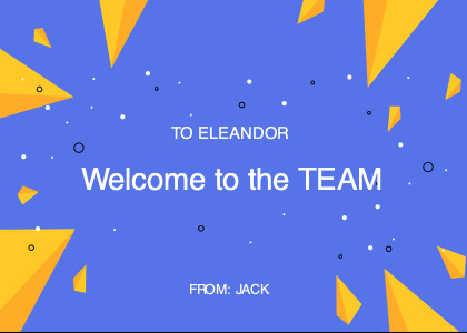 welcome card 2 text outdoors