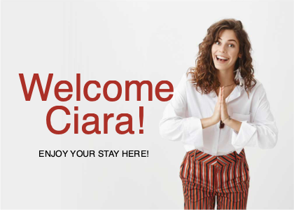 welcome card 7 female person