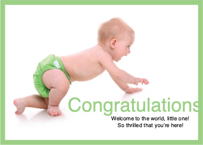 welcome card 8 person baby