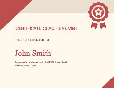 certificate 1 achievement  certificate template