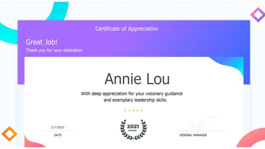 certificate 10  certificate of appreciation template