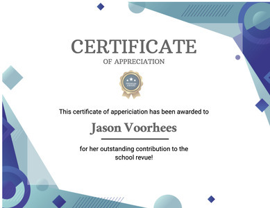 certificate 101 text document