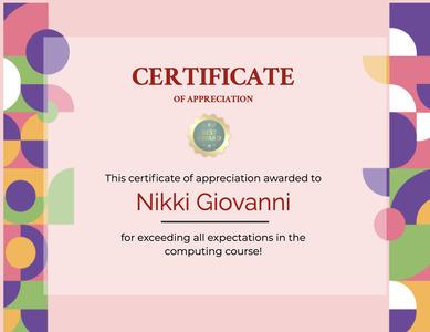 certificate 104 text diploma