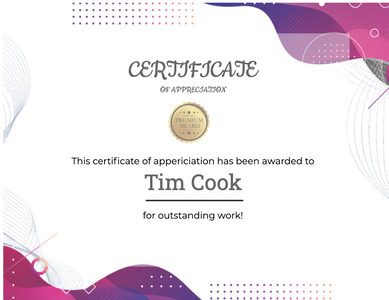 certificate 106 text document