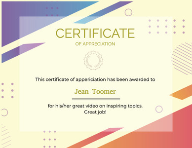 certificate 107 text document