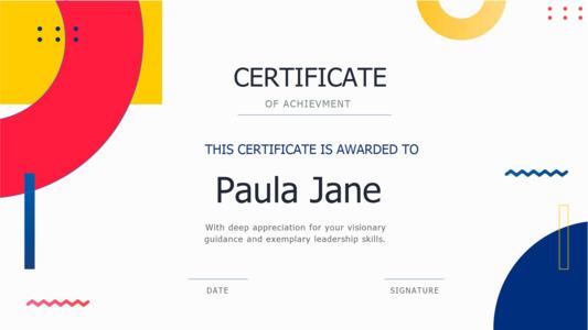 certificate 11 free template of achievement  certificate
