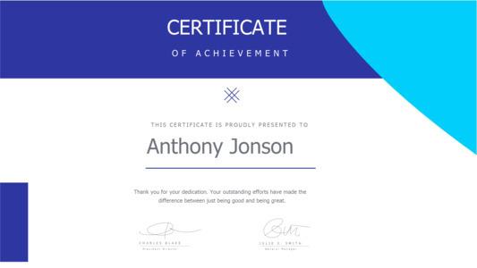 certificate 12 achievement  certificate template free