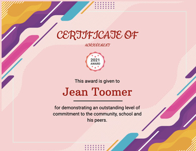 certificate 120 text poster