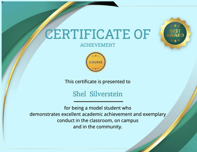 certificate 124 text label