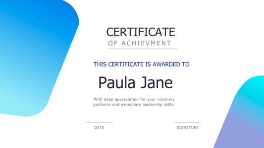 certificate 14  certificate of achievement template