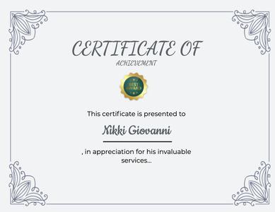 certificate 140 text diploma