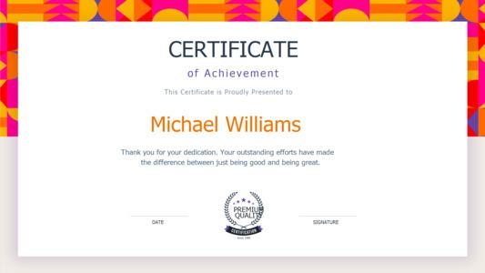 certificate 15  certificate of achievement design free