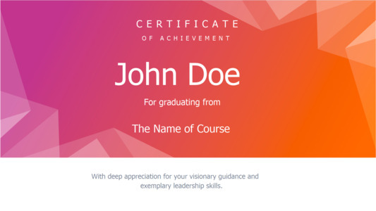 certificate 16 online  certificate of achievement