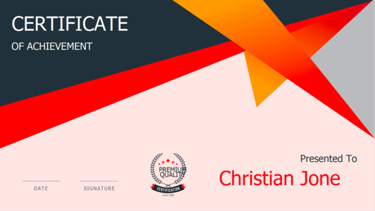certificate 18  certificate of accomplishment template