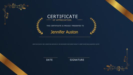 certificate 20 online samples for  certificate of appreciation