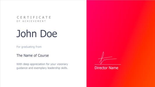 certificate 23 sample  certificate of achievement