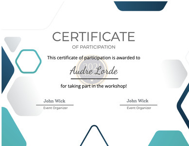 certificate 24 text label