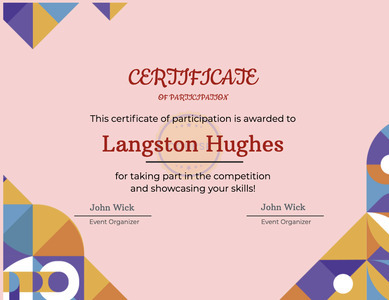 certificate 28 text flyer