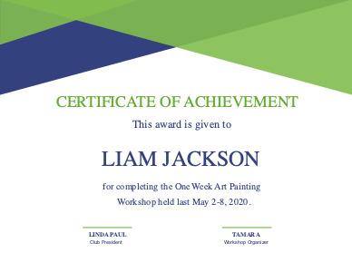 certificate 3 online editable  certificate of achievement