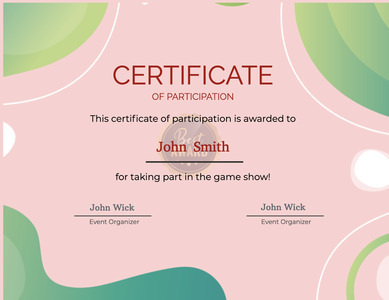 certificate 30 text document