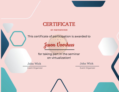 certificate 40 text document