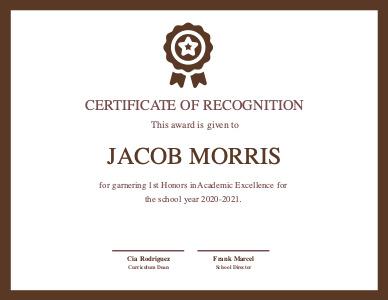 certificate 5 custom recognition  certificate templates